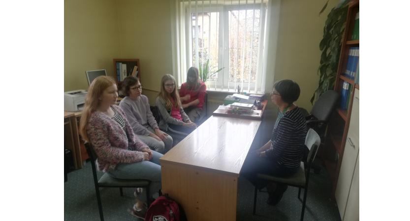 Zajęcia zawodoznawcze  w poradni psychologiczno-pedagogicznej w Bychawie