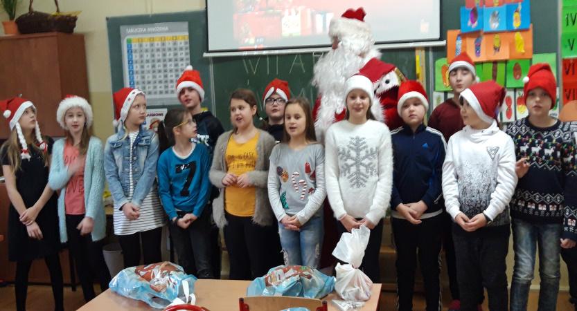 Spotkanie z Mikołajem w klasie 3d