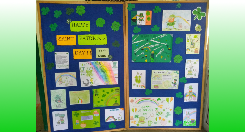 Wystawa prac z okazji Dnia Św. Patryka – St.Patrick's Day!!!