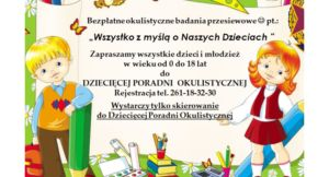 Read more about the article Bezpłatne okulistyczne badania