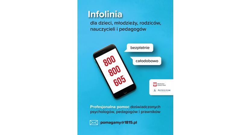 Read more about the article Ogólnopolska infolinia dla dzieci i młodzieży